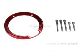 Einfassung Tankdeckel Aluminium rot eloxiert f. Monkey 125