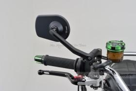 "Daytona ""D-MIRROR-5"" Aluminium Seitenspiegel schwarz PAN"