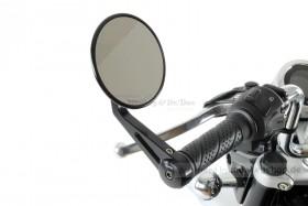 Aluminium Lenkerenden Spiegel schwarz rund f. MSX + Monkey 125