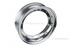 Kepspeed 2.75x10 Felge Aluminium poliert 2-teilig f. Dax