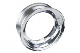 Kepspeed 3.50x10 Felge Aluminium poliert 2-teilig f. Dax