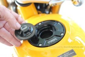 TYGA Tankdeckel Aluminium schwarz eloxiert f. Monkey 125