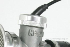 Takegawa Gaszug Deckel Aluminium silber f. Keihin PE28