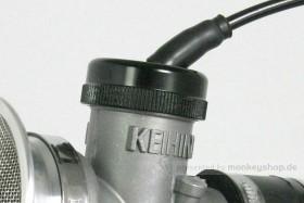 Takegawa Gaszug Deckel Aluminium schwarz f. Keihin PE28