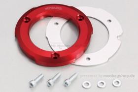 Kitaco Schutz f. Kupplungsdeckel Alu CNC rot eloxiert f. Monkey + Super Cub 125
