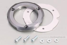 Kitaco Schutz f. Kupplungsdeckel Alu CNC gun metal silber eloxiert f. Monkey + Super Cub 125