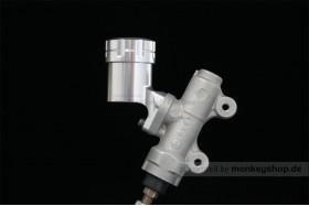 G-Craft Behälter Bremsflüssigkeit Aluminium silber 25° f. Bremspumpe hinten