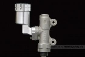 G-Craft Behälter Bremsflüssigkeit Aluminium silber f. Bremspumpe hinten