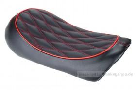Sitzbank flach Typ Karo schwarz rot f. Monkey 125 Z125MA