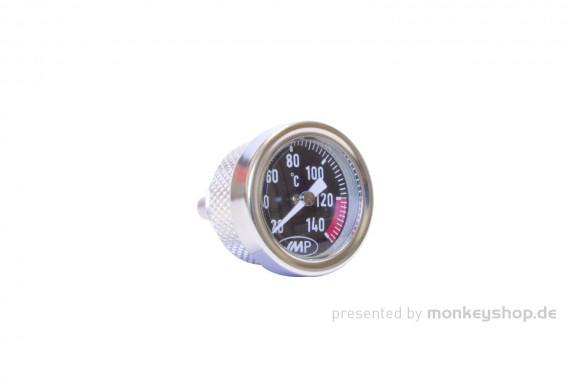 Öltemperatur Anzeige Aluminium silber schwarz f. Monkey 125 + MSX JC92 2021 + Daytona 2V ANIMA 4V