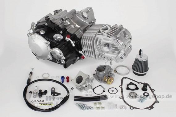 Takegawa 181 cc Super Head 4V+R Tuning Motor 23 PS Nasskupplung f. Monkey 125