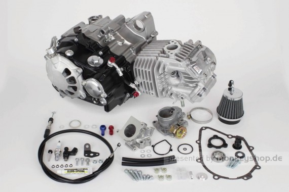 Takegawa 181 cc Super Head 4V+R Tuning Motor 23 PS Trockenkupplung f. Monkey 125