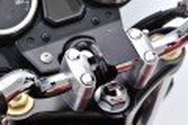 Daytona Universalhalter Lenkerklemme Aluminium schwarz eloxiert