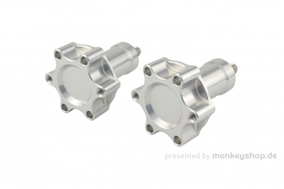 SHIFTUP Sitzbank Schrauben Befestigung Aluminium CNC silber f. Monkey 125