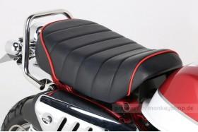 Kitaco Sitzbank Typ Tuck Roll schwarz mit rotem Keder f. Monkey 125 Z125MA
