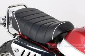 Kitaco Sitzbank Typ Tuck Roll schwarz mit weißem Keder f. Monkey 125 Z125MA