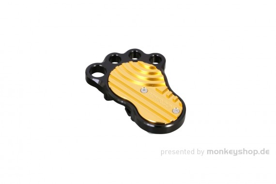 Kitaco BIG FOOT Bremspedal gold Aluminium CNC f. Fußbremshebel Monkey 125