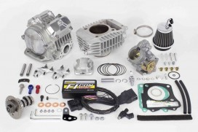 Takegawa Tuning Kit 181 cc 4-Valve (4V+R) Zylinderkopf mit FI-Con Type-X & Drosselklappe f. Honda Monkey 125