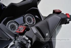 Daytona Deckel Bremspumpe 2-farbig eloxiert rot schwarz f. HONDA (B)