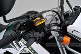 Daytona Deckel Bremspumpe 2-farbig eloxiert gold schwarz f. HONDA (B)