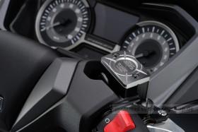 Daytona Deckel Bremspumpe 2-farbig eloxiert silber schwarz f. HONDA (B)