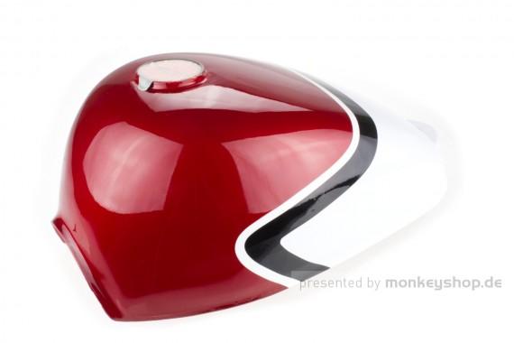 Monkey Tank rot / weiß mit Benzinhahn