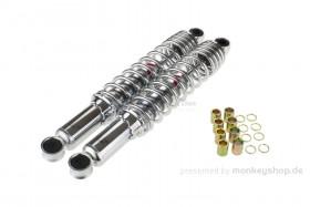 Kitaco Stoßdämpfer Paar 330 mm Chrom f. Monkey + Dax + SS50