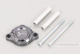 Kitaco E-Starter Deckel Aluminium CNC gunmetal grau eloxiert f. MSX Grom JC92