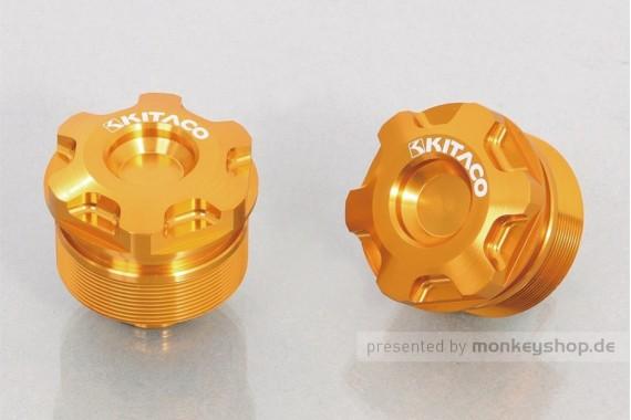 Kitaco obere Gabel Schrauben Set Aluminium CNC gold f. MSX + Monkey 125