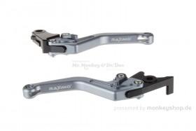 Kupplungs- & Bremshebel Set Aluminium CNC titan f. Monkey 125 + MSX