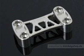 TYGA obere Lenkerklemme Aluminium CNC silber eloxiert f. MSX + Monkey 125