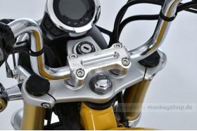 G-Craft obere Lenkerklemme Aluminium CNC silber eloxiert f. MSX + Monkey 125