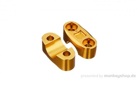 Kitaco obere Lenkerklemmen Set Aluminium CNC gelb eloxiert f. MSX + Monkey 125