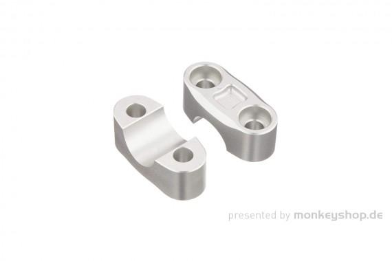Kitaco obere Lenkerklemmen Set Aluminium CNC silber eloxiert f. MSX + Monkey 125