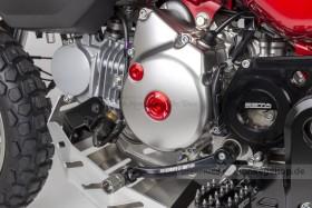 ZETA Aluminium CNC Zündungsdeckel Schrauben Set rot eloxiert f. Super Cub + Monkey 125