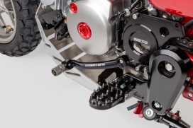 ZETA Revolver Schalthebel Aluminium schwarz f. MSX + Monkey 125