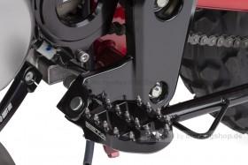 ZETA Fußrasten CNC Aluminium schwarz eloxiert f. Monkey 125 + MSX