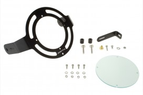 ZETA Scheinwerfer Schutz Gitter Aluminium CNC schwarz f. Monkey 125