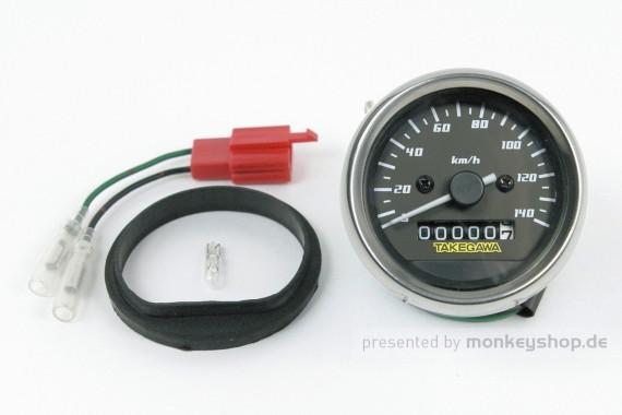 Takegawa D-Type Tachometer schwarz