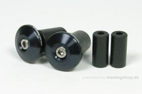 Takegawa Aluminium Lenkerenden schwarz flach