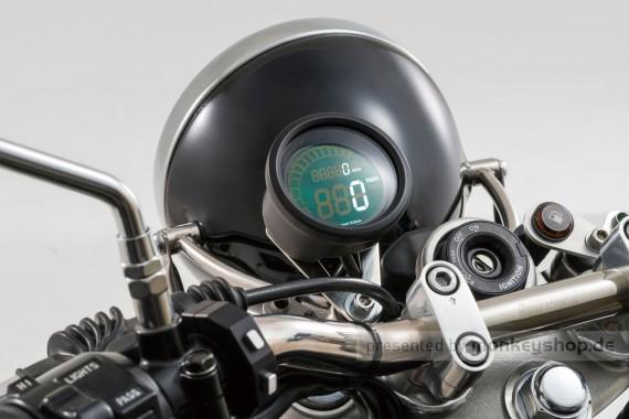 Daytona Velona ø60 Digital Multi Instrument Tachometer Drehzahlmesser schwarz